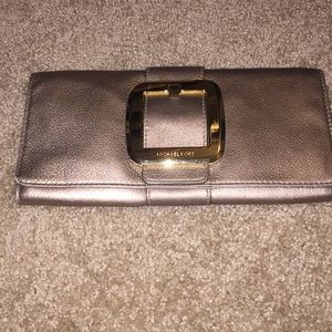 Michael kors belted clutch
